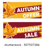 autumn offer and sale   yellow... | Shutterstock .eps vector #507537286