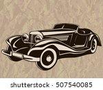 retro muscle car vector... | Shutterstock .eps vector #507540085