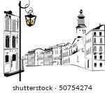street in the city | Shutterstock .eps vector #50754274