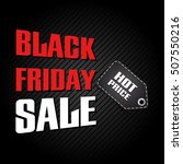 black friday sale design... | Shutterstock .eps vector #507550216