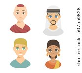 group people nationality race... | Shutterstock .eps vector #507550828