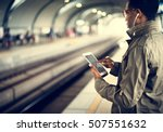train transit commuter... | Shutterstock . vector #507551632