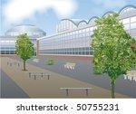 shopping mall exterior | Shutterstock .eps vector #50755231