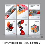 cover design annual report ... | Shutterstock .eps vector #507558868