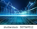 stock exchange concept  vector... | Shutterstock .eps vector #507569512