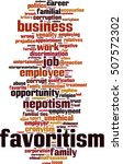 favoritism word cloud concept.... | Shutterstock .eps vector #507572302