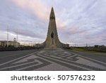 hallgrimskirkja cathedral in... | Shutterstock . vector #507576232