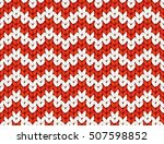 red and white knit zig zag... | Shutterstock .eps vector #507598852