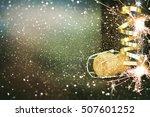 bottle of champagne.celebration ... | Shutterstock . vector #507601252