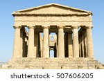 temple of concordia  a greek... | Shutterstock . vector #507606205