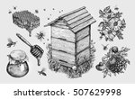 honey  mead. beekeeping ... | Shutterstock .eps vector #507629998