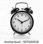 close up black alarm clock... | Shutterstock . vector #507630418