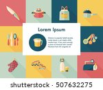 kitchen and cooking icons set | Shutterstock .eps vector #507632275