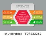 vector infographic template ... | Shutterstock .eps vector #507633262