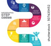 infographic step for success... | Shutterstock .eps vector #507635452