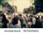 night festival event party on... | Shutterstock . vector #507635602