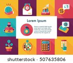 financial and business icons set | Shutterstock .eps vector #507635806