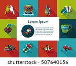 valentine's day icons set | Shutterstock .eps vector #507640156