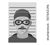 man arrested icon. gray... | Shutterstock .eps vector #507642196