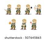 elf set illustration design | Shutterstock . vector #507645865