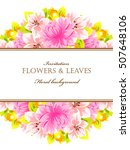 invitation with floral... | Shutterstock .eps vector #507648106