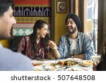 indian ethnicity meal food roti ... | Shutterstock . vector #507648508