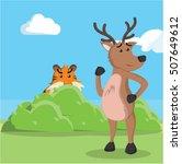 Tiger Targeting Deer...