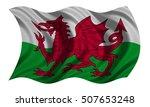 welsh national official flag.... | Shutterstock . vector #507653248