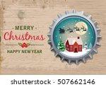 merry christmas. vintage... | Shutterstock .eps vector #507662146