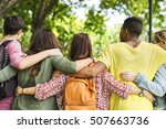 education students people... | Shutterstock . vector #507663736