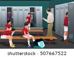 a vector illustration of soccer ... | Shutterstock .eps vector #507667522