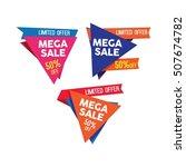 mega sale banner design... | Shutterstock .eps vector #507674782