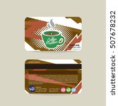 front and back coffee voucher... | Shutterstock .eps vector #507678232