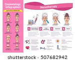 vector illustrated set with... | Shutterstock .eps vector #507682942