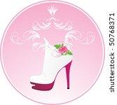 elegant female shoes. sticker....   Shutterstock .eps vector #50768371