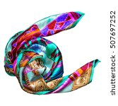 silk scarf isolated on white...   Shutterstock . vector #507697252