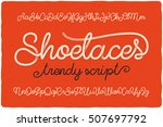 trendy textured one line... | Shutterstock .eps vector #507697792