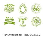 set of organic food labels and... | Shutterstock .eps vector #507702112