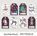 christmas and new year gift... | Shutterstock .eps vector #507703915