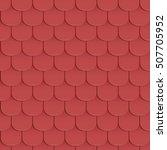 shingles roof seamless pattern. ... | Shutterstock .eps vector #507705952