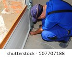 contractor installing  repair ... | Shutterstock . vector #507707188