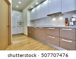 kitchen with appliances and a... | Shutterstock . vector #507707476