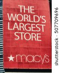 Small photo of MANHATTAN - JUN 14: In 1924, Macy's Herald Sq. on 7th Ave. was World's Largest Store ( more than 1 million sq. ft of retail space). In 1858 Macy's launched the red star logo. NYC June 14, 2013