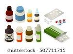 medicine bottles  tablets ... | Shutterstock .eps vector #507711715
