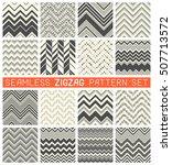 seamless zig zag pattern set....   Shutterstock .eps vector #507713572