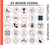 set of 25 universal editable... | Shutterstock .eps vector #507716986