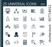 set of 25 universal editable... | Shutterstock .eps vector #507718012
