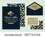 wedding invitation card suite... | Shutterstock .eps vector #507721516