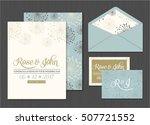 wedding invitation card suite...   Shutterstock .eps vector #507721552