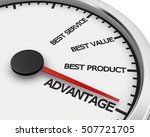 advantage better product price... | Shutterstock . vector #507721705